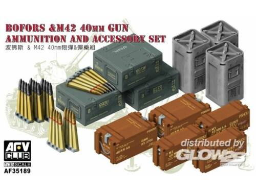 AFV Club Bofors M42 40mm Gun AMMO Accessories Set 1:35 (AF35189)