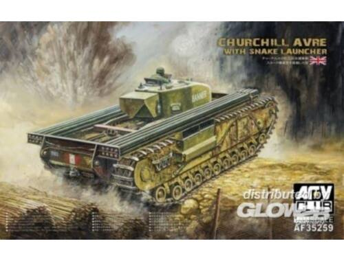AFV Club Churchill avre with snake launcher 1:35 (AF35259)