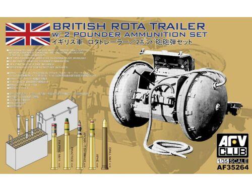 AFV Club WW2 British Rota trailer W/2 Pounder Amm 1:35 (AF35264)