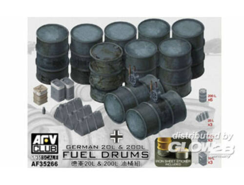 AFV Club German 20L   200L Fuel Drums 1:35 (AF35266)