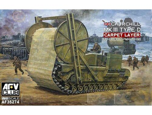 AFV Club Churchill Carpet Layer (Type D) Mark II 1:35 (AF35274)