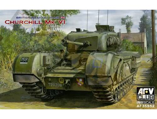 AFV Club Churchill MK VI/75mm GUN (Limited) 1:35 (AF35S52)