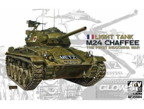 AFV Club M24 Chaffee Light Tank the First Indochi 1:35 (AF35S84)