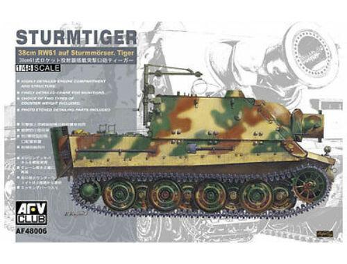 AFV Club Sturmtiger 38cm RW61 auf Sturmmörser 1:48 (AF48006)