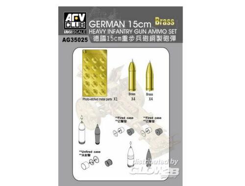 AFV Club Metal ammonutions and PE for Sig33 15cm gun 1:35 (AG35025)