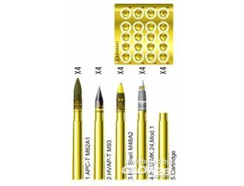 AFV Club 3 inch gun ammo brass set 1:35 (AG35031)