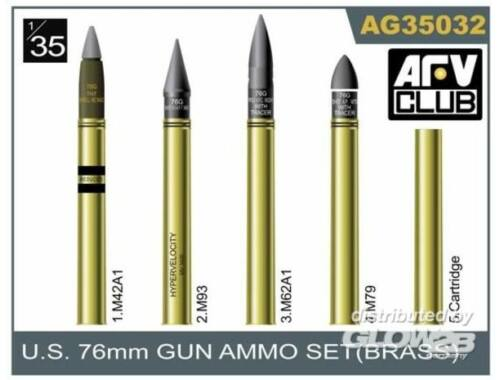 AFV Club 76mm gun ammo brass set 1:35 (AG35032)