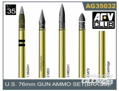 AFV Club 76mm gun ammo brass set 1:35 (AG35032)
