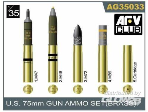 AFV Club 75mm gun ammo brass set 1:35 (AG35033)