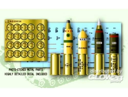 AFV Club U.K. 95 mm Howitzer Ammo Set 1:35 (AG35034)