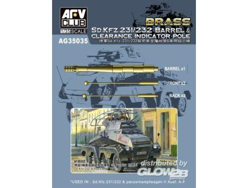 AFV Club SD.KFZ 231/232 Barrel Clearance Ind.POLE 1:35 (AG35035)
