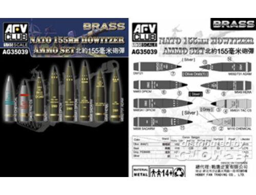 AFV Club NATO 155mm Howitzer Ammo Set (Brass) 1:35 (AG35039)