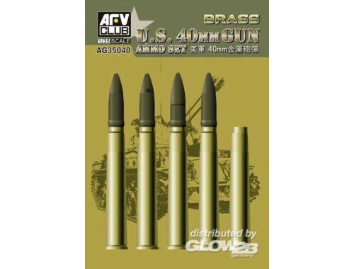 AFV Club Bofors 40mm Ammo (Brass) 1:35 (AG35040)