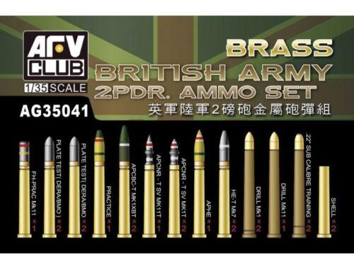 AFV Club British Army 2pdr Ammo(Brass) set 1:35 (AG35041)