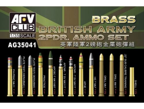 AFV Club British Army 2pdr Ammo(Brass) set 1:35 (AG35041)