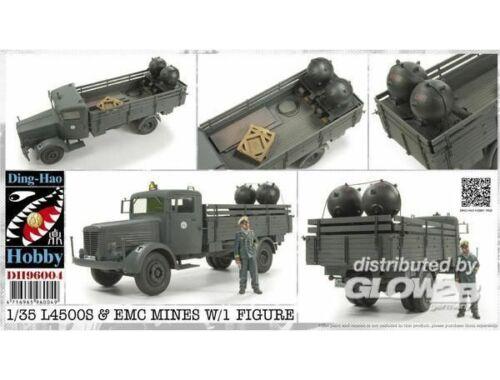 AFV Club L4500S   EMC Mines w/1 Figure 1:35 (DH96004)