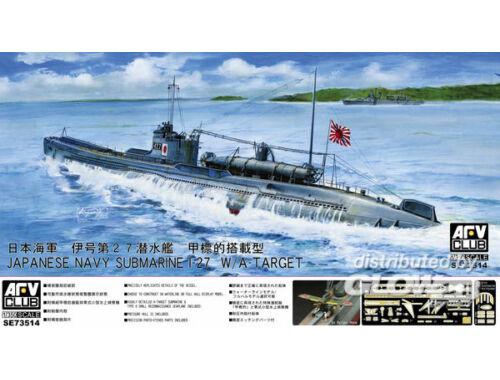 AFV Club Jap. Navy Submarine I-27 W/A-Target 1:350 (SE73514)