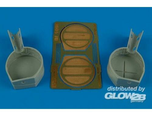 Aires Bf 109F wheel bay for Hasegawa 1:32 (2139)