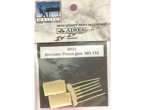 Aires MG 151 20 mm Kanone, jeweils 4 St. pro Verpackung. 1:48 (4021)