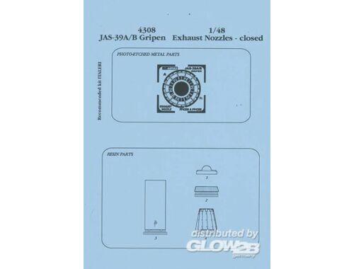 Aires JAS 39A/B Gripen Schubdüsen - geschlossen für Italeri Bausatz 1:48 (4308)