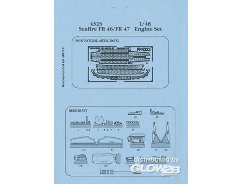 Aires Seafire FR 46/FR 47 Motor Set für Airfix-Bausatz 1:48 (4323)