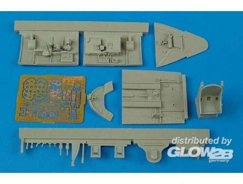 Aires F6F-5 Hellcat cockpit set for Hasegawa kit 1:48 (4388)
