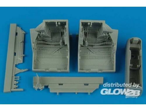 Aires F-22A Raptor wheel bays for Academy 1:48 (4445)