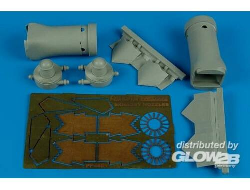 Aires F/A-22 Raptor exhaust nozzles-closed HAS 1:48 (4481)