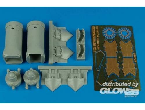 Aires F-22A Raptor exhaust nozzles-opened (HAS 1:48 (4484)