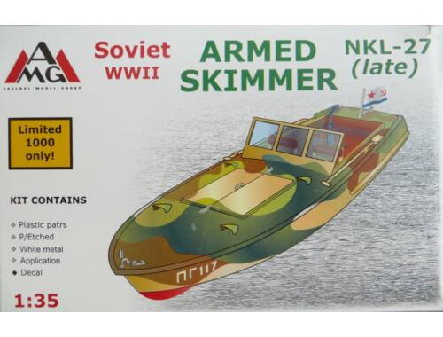 AMG NKL-27 armed speed boat, WWII (late) 1:35 (AMG35404)