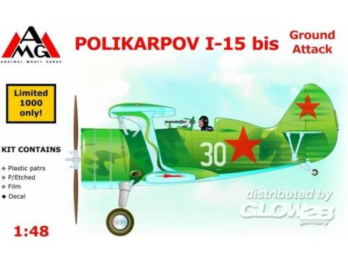AMG Polikarpov I-15 bis ground attack aircra 1:48 (AMG48303)
