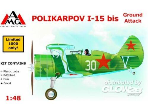 AMG Polikarpov I-15 bis ground attack aircra 1:48 (AMG48303)