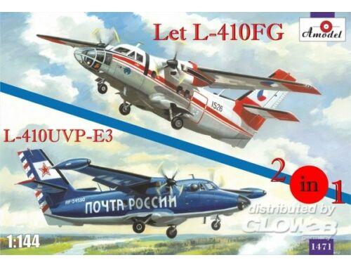 Amodel Let L-410FG   L-410UVP-3 aircraft (2kits 1:144 (1471)