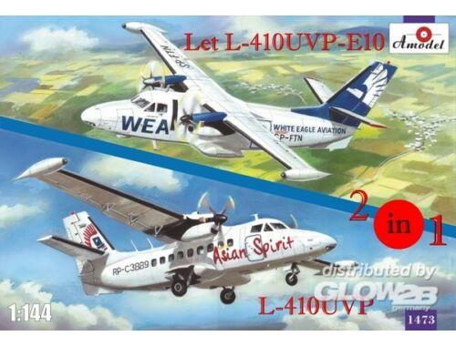 Amodel Let L-410UVP-E10   L-410UVP aircraft(2ki 1:144 (1473)