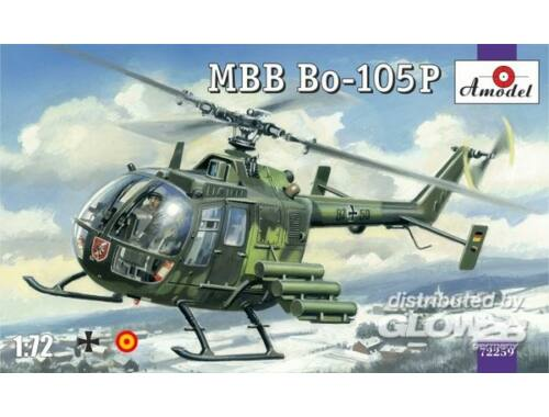 Amodel MBB Bo-105P helicopter, military version 1:72 (72259)