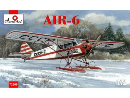 Amodel AIR-6 Soviet monoplane on skis 1:72 (72309)