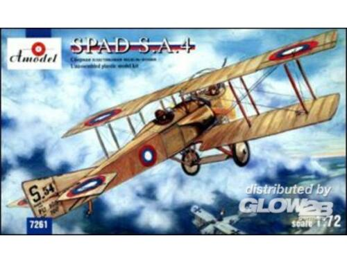 Amodel SPAD S.A.4 French WWI fighter(Re-release 1:72 (7261)