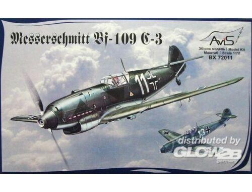 Avis Me Bf-109 C-3 WWII German fighter 1:72 (72011)