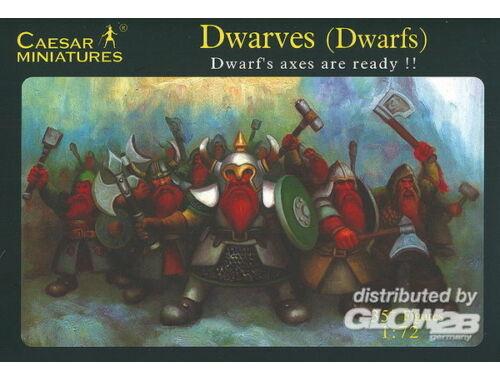 Caesar Dwarves (Dwarfs) Dwarf's axes are ready!! 1:72 (F101)