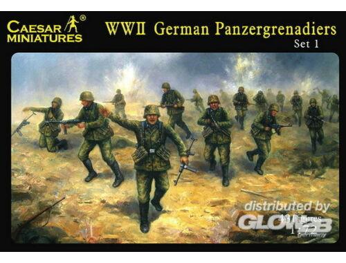 Caesar WWII German Panzergrenadiers Set 1 1:72 (H052)