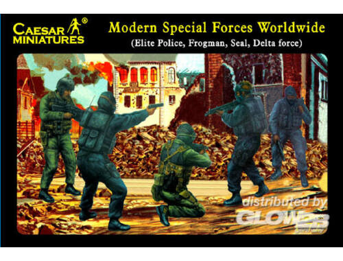 Caesar Modern Special Forces (Elite Police, Frogman, Seal, Delta Force) 1:72 (H061)