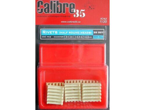 Calibre Rivets, half round heads, 360 pc. 1:35 (35007)