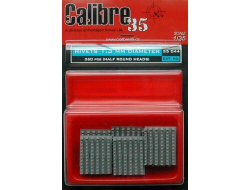 Calibre Nietreihen 1,3 mm halbrund 1:35 (35044)