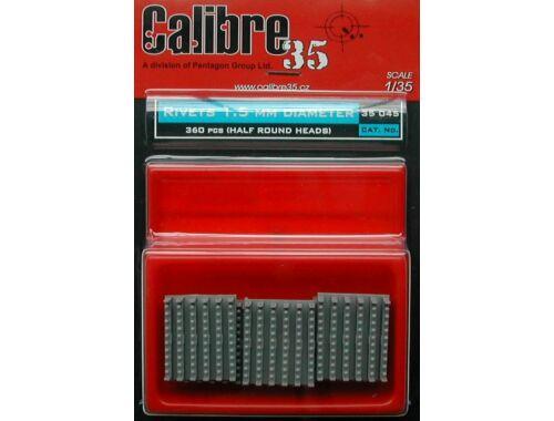 Calibre Nietreihen 1,5 mm halbrund 1:35 (35045)