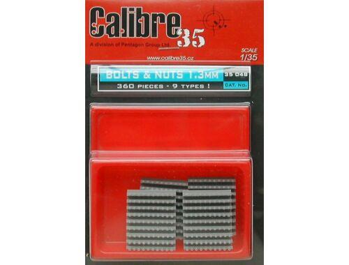 Calibre Nietreihen 1,3 mm (360 Stück) in verschiedenen Kombinationen 1:35 (35048)