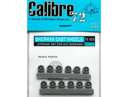 Calibre M4 Sherman Cast Räder 1:72 (72003)