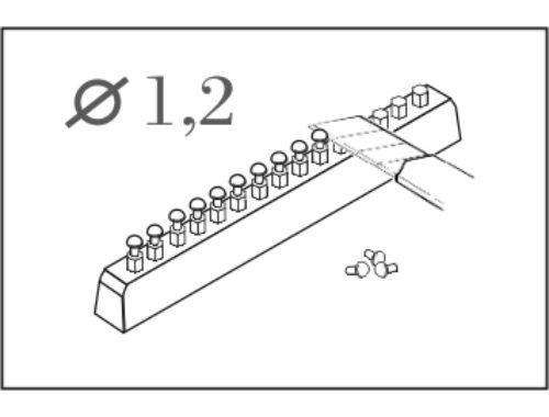 CMK Button - head rivet calibre 1,2 mm (60 pcs) (001)