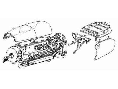 CMK Me 410 B - engine set for REV - MON (DB-603) 1:48 (4008)