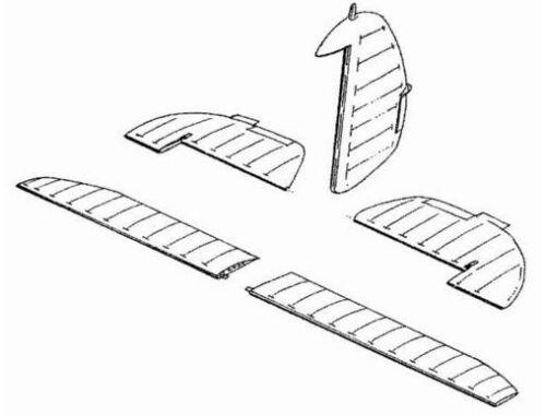 CMK Hurricane Mk.II - control surfaces set for HA 1:48 (4012)
