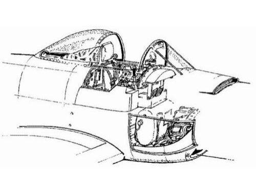 CMK A-1H Skyraider - interior set for TAM 1:48 (4018)